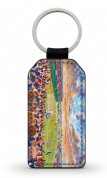 brockville  PU Leather Keyring Printed Both Sides